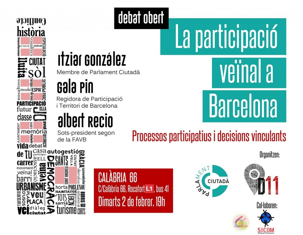 Banner debat Participació veïnal